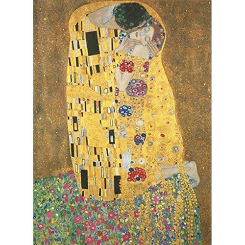 Clementoni 1000 db-os puzzle Múzeum Kollekció puzzle négyzet alakú dobozban - Klimt - Csók 98307
