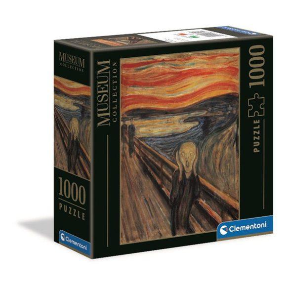 Clementoni 1000 db-os Múzeum Kollekció puzzle négyzet alakú dobozban - Munch - A sikoly 98311