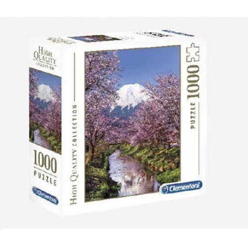 Clementoni 1000 db-os puzzle négyzet alakú dobozban - Fuji kert 98326