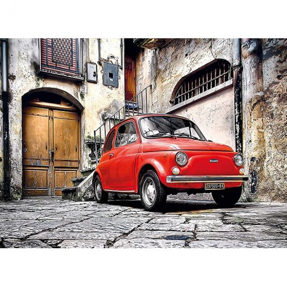 Clementoni 500 db-os puzzle négyzet alakú dobozban - Fiat 500  98980
