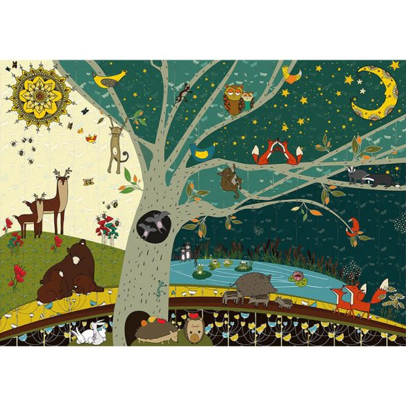 Deico Games 1000 db-os puzzle - Nature Collection: Day and Night - 76403