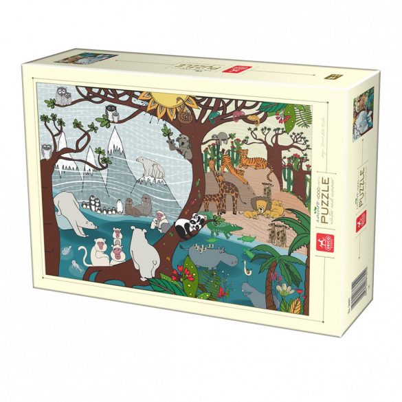 Deico Games 1000 db-os puzzle - Nature Collection - Summer and Winter 76410