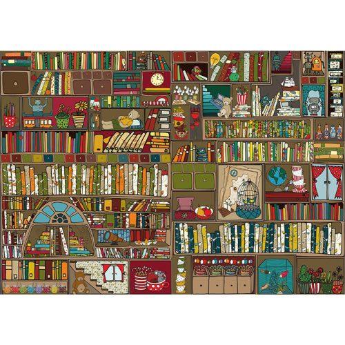 Deico Games 1000 db-os puzzle - Bookshelf - 76434