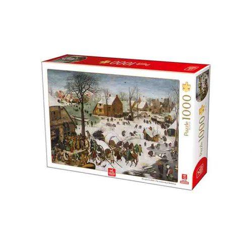 Deico Games 1000 db-os puzzle - Brueghel the Elder: The numbering at Bethlehem - 76649
