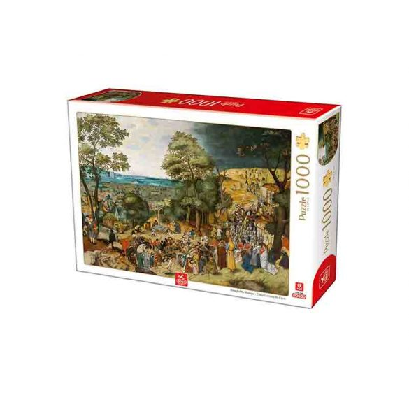 Deico Games 1000 db-os puzzle - Breughel the Younger: Christ Carrying the Cross - 76663