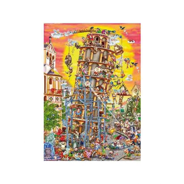 D-Toys 1000 db-os puzzle - Cartoon Collection: Pisa Tower - 61218