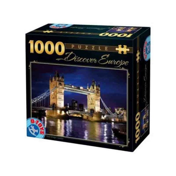 D-Toys 1000 db-os puzzle - Discovering Europe: Tower Bridge, London - 65995