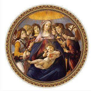 D-Toys 525 db-os puzzle - Masters of the Renaissance - Botticelli : Madonna della Melagra 66985