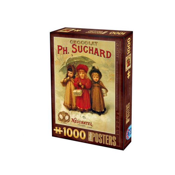 D-Toys 1000 db-os puzzle - Vintage Posters : Ph. Suchard Chocolates 69610