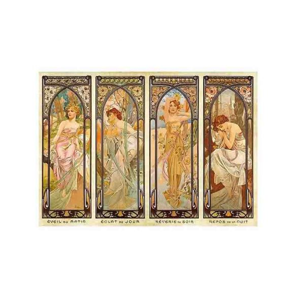 D-Toys 1000 db-os puzzle - Alphonse Mucha: Times of Day - 70050