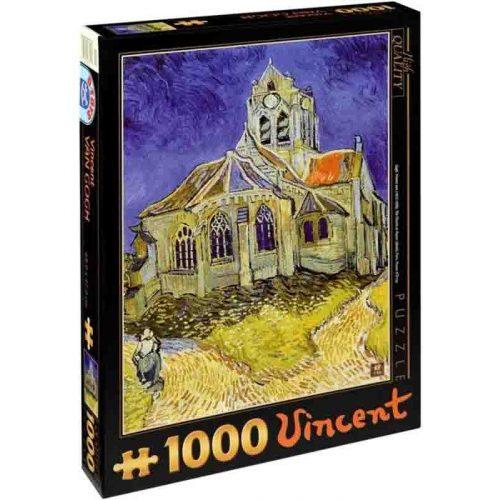 D-Toys 1000 db-os puzzle - Van Gogh: The Church at Auvers - 70173