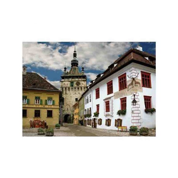 D-Toys 1000 db-os puzzle - Discovering Europe: Schasburg, Sighisoara, Romania - 70371