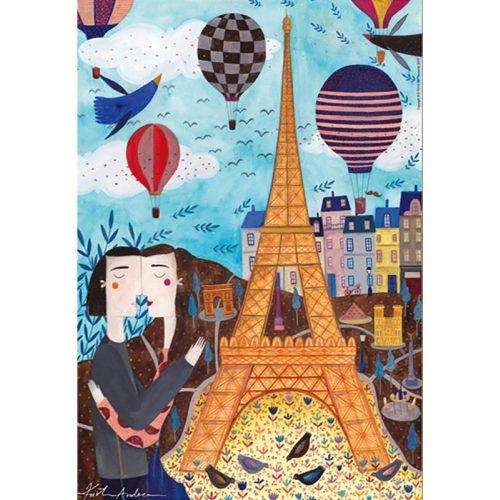 D-Toys 1000 db-os Puzzle - Kürti Andrea: Paris - 73730
