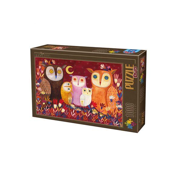 D-Toys 1000 db-os Puzzle - Kürti Andrea: Owls - 73747