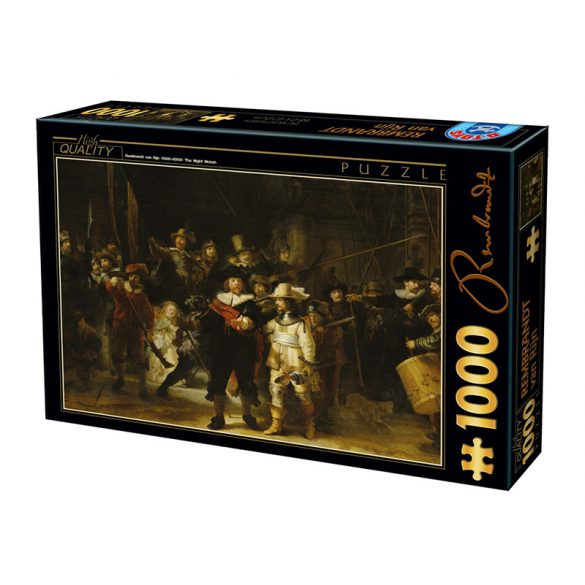 D-Toys 1000 db-os puzzle - Rembrandt: Night Watch - 73792