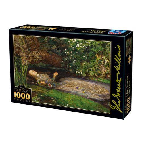 D-Toys 1000 db-os puzzle - John Everett Millais: Ophelia - 73815