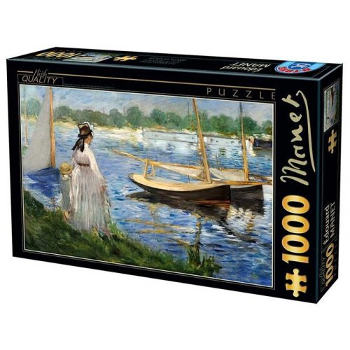 D-Toys 1000 db-os puzzle - Edouard Manet: The-Banks of the Seine at Argenteuil - 74522
