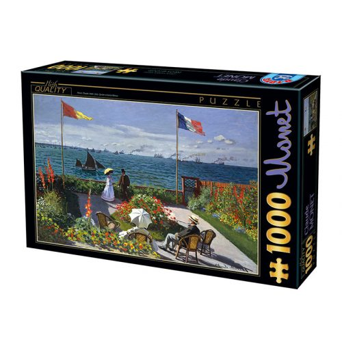 D-Toys 1000 db-os puzzle - Claude Monet: Terrasse à Sainte-Adresse, 1867 - 74577