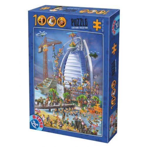 D-Toys 1000 db-os puzzle - Cartoon Collection: Burj al-Arab - 74690