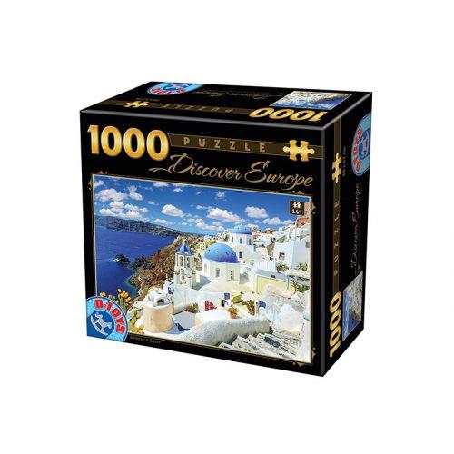 D-Toys 1000 db-os puzzle - Discover Europe: Santorini - 74874