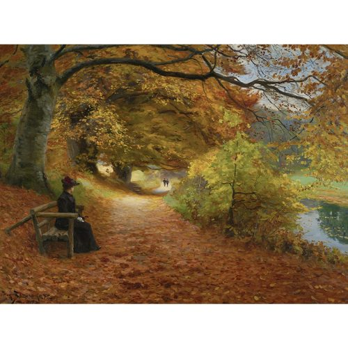 D-Toys 1000 db-os puzzle - Hans Andersen Brendekilde: A Wooded Path in Autumn - 75093