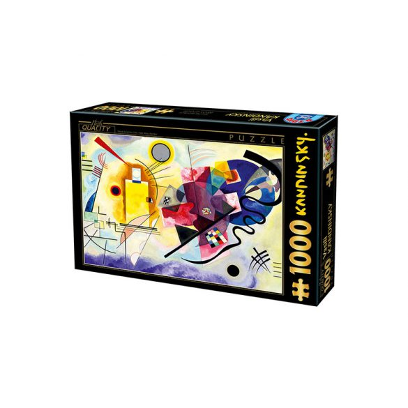 D-Toys 1000 db-os puzzle - Kandinsky Vassily: Yellow, Red, Blue - 75123