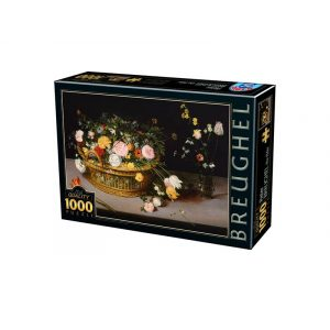 D-Toys 1000 db-os puzzle - Pieter Brueghel: Flowers in a basket and a vase - 75833