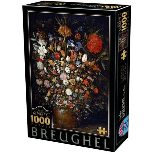 D-Toys 1000 db-os puzzle - Pieter Brueghel: Flowers in a Wooden Vase - 75840