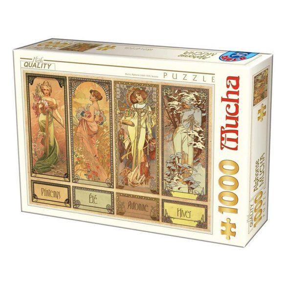 D-Toys 1000 db-os puzzle - Mucha Alfons: Seasons - 75901