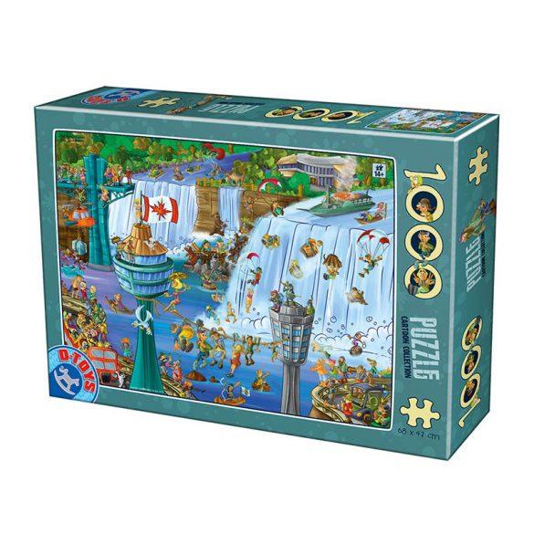 D-Toys 1000 db-os puzzle - Cartoon Collection - Niagara Falls 75932