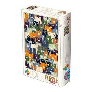 D-Toys 1000 db-os Puzzle - Kürti Andrea: Cats - 76847