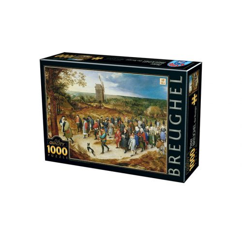 D-Toys 1000 db-os puzzle - Breughel the Younger: The Marriage Procession - 76854