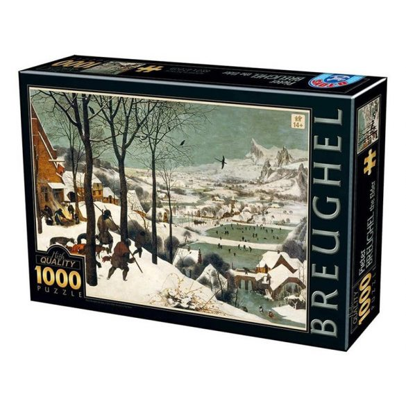 D-Toys 1000 db-os puzzle - Pieter Brueghel the Elder: Hunters in the Snow - 76878