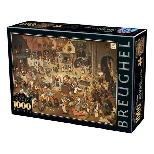D-Toys 1000 db-os puzzle - Pieter Brueghel the Elder: The Fight Between Carnival and Lent - 76885