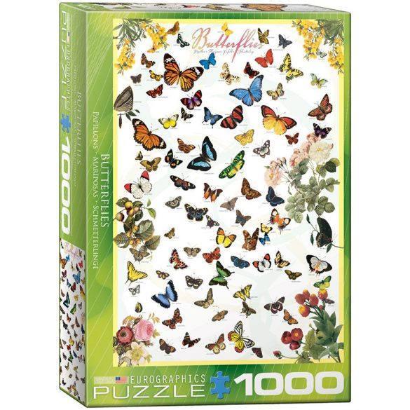 Eurographics 1000 db-os puzzle - Butterflies 6000-0077