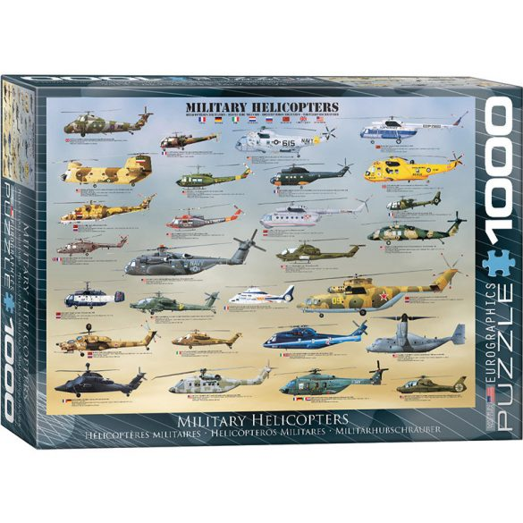 Eurographics 1000 db-os puzzle - Military Helicopters - 6000-0088