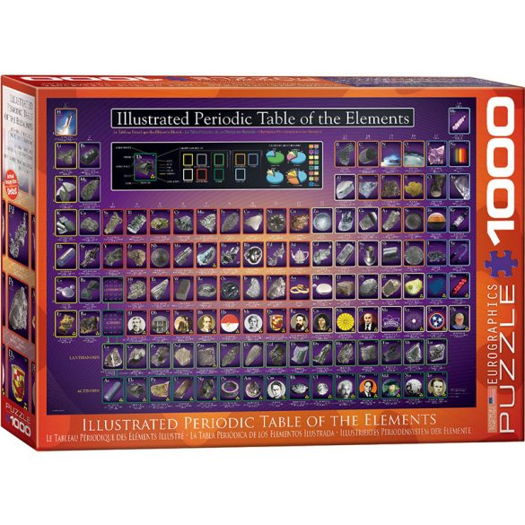 Eurographics 1000 db-os puzzle - Illustrated Periodic Table of the Elements - 6000-0258