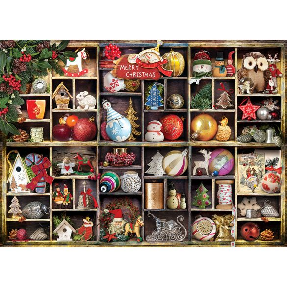 EuroGraphics 1000 db-os Puzzle - Christmas Ornaments - 6000-0759