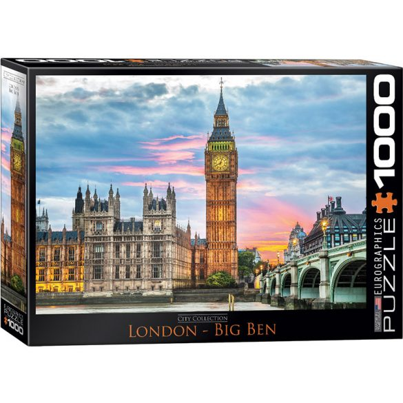 Eurographics 1000 db-os puzzle - London - Big Ben - 6000-0764