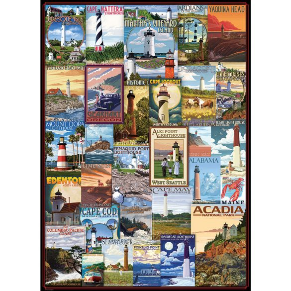 Eurographics 1000 db-os puzzle - Lighthouses Vintage Posters - 6000-0779