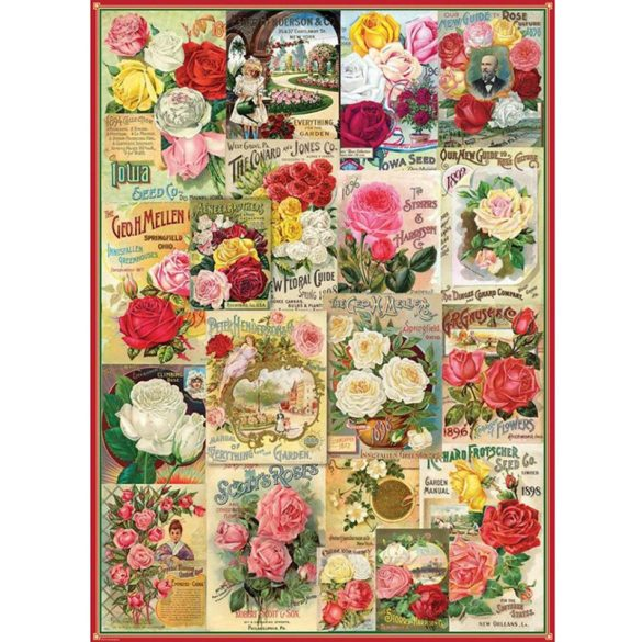 Eurographics 1000 db-os Puzzle - Roses Seed Catalogue - 6000-0810