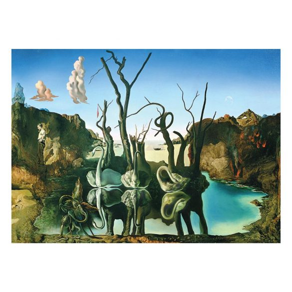 EuroGraphics 1000 db-os Puzzle - Salvador Dalí - Swans Reflecting Elephants - 6000-0846