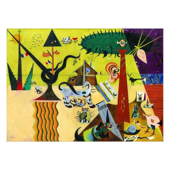 Eurographics 1000 db-os Puzzle - Joan Miro - The Tilled Field - 6000-0858