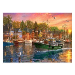 Eurographics 1000 db-os Puzzle - Dominic Davison - Harbor Sunset - 6000-0969