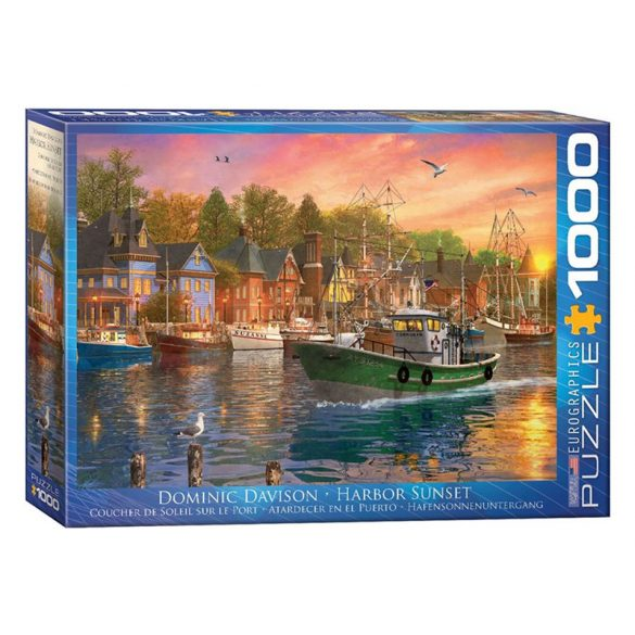 Eurographics 1000 db-os Puzzle - Dominic Davison - Harbor Sunset - 6000-0969