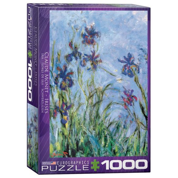 Eurographics 1000 db-os Puzzle - Claude Monet: Irises (Detail) - 6000-2034