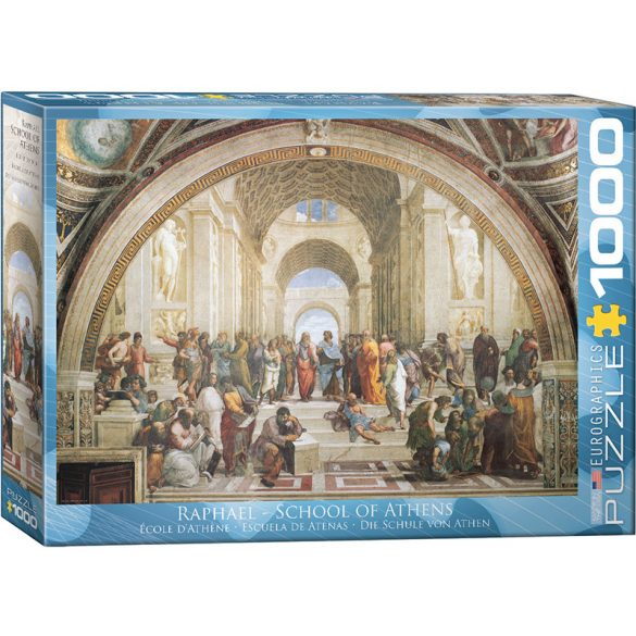 EuroGraphics 1000 db-os Puzzle - Raphaël - The School of Athens - 6000-4141