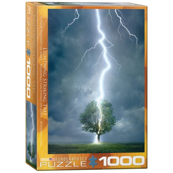 Eurographics 1000 db-os Puzzle - Lightning striking a tree - 6000-4570