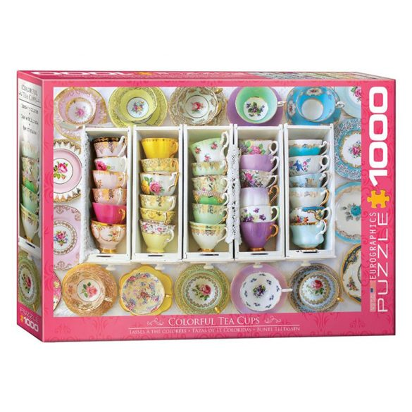 EuroGraphics 1000 db-os Puzzle - Tea Cups Boxes - 6000-5342