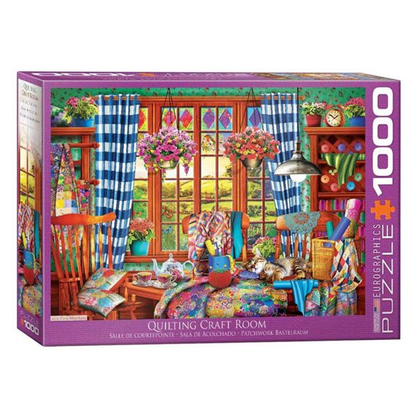 Eurographics 1000 db-os Puzzle - Patchwork Craft Room - 6000-5348